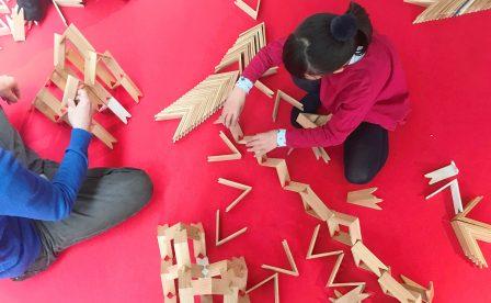 天王洲キャナルマルシェにて「つみき」のワークショップ開催